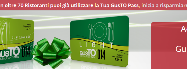 GUSTO PASS – Torino price sensitive