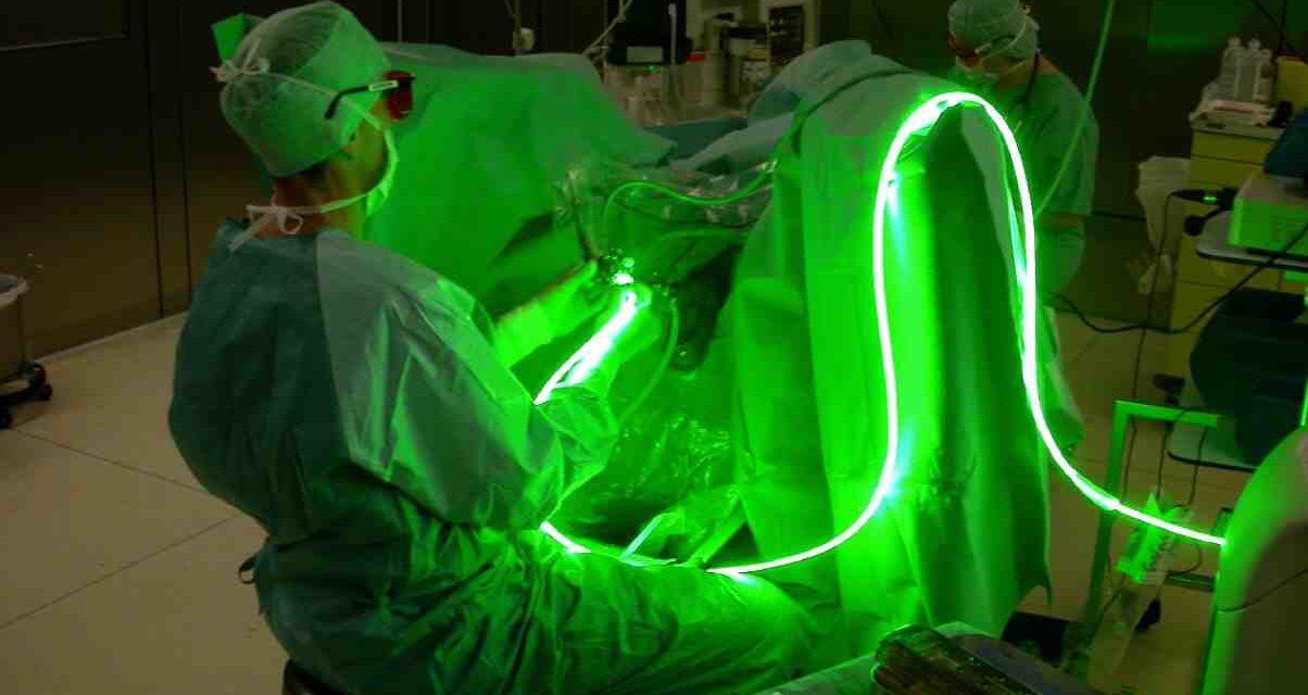 Un raggio verde contro la prostata
