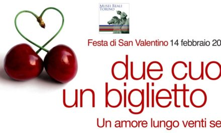 Due cuori e un biglietto: San Valentino inaugura il nuovo corso dei Musei Reali di Torino