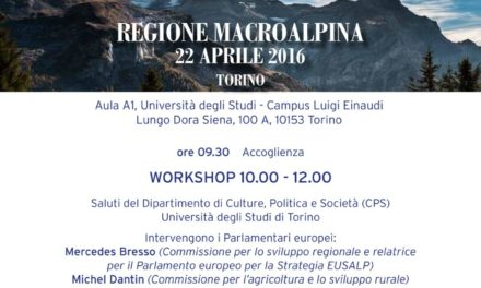 Torino al centro della strategia europea delle Regione Macro Alpina.