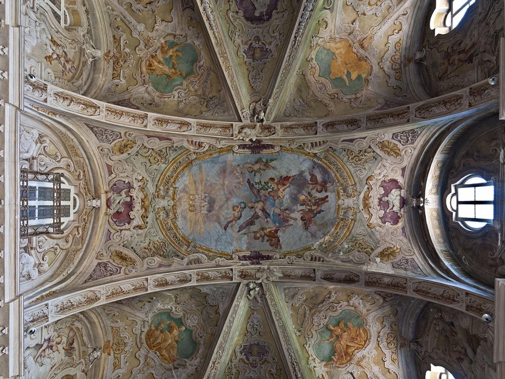 """Biblioteca Musicale """"Andrea Della Corte"""" , particolare della volta"""