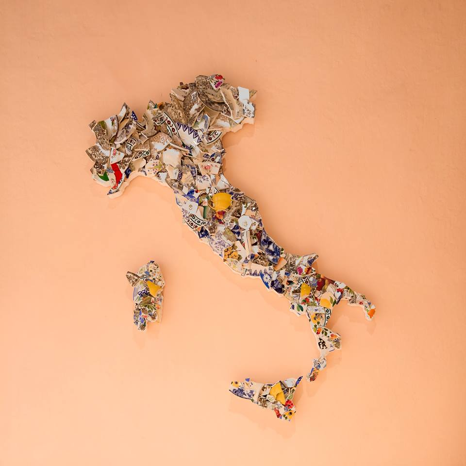 Bouke de Vries, Map of Italy, 2017