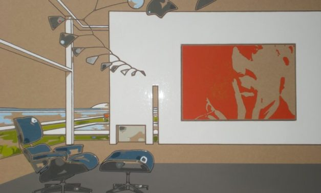 """Il """"Paesaggio Costruito"""" di Guido Bagini e Diego Pomarico alla galleria Panta Rei estende nuovi panorami."""