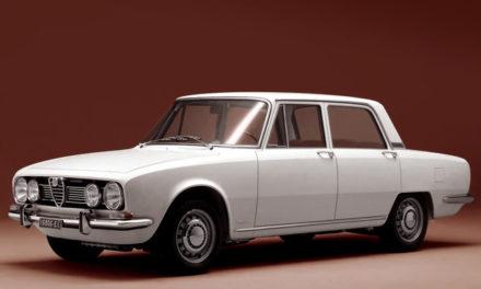 Alfa Romeo 1750. Una berlina di classe superiore. Era il 1968.
