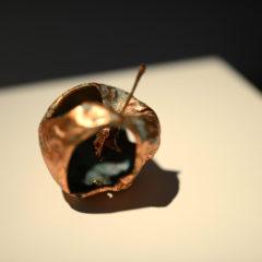 Le mele scultura di Hilaro Isola per l'autunno dello Studio Casorati di Pavarolo.