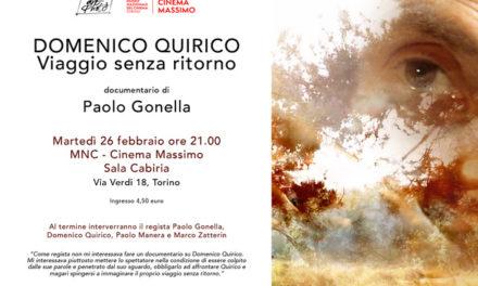 """Al Cinema Massimo un """"Viaggio senza ritorno"""". Domenico Quirico ne è il protagonista."""
