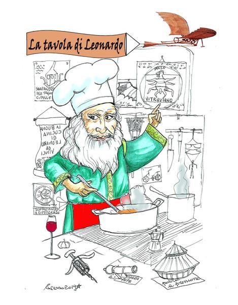La Tavola di Leonardo. Una cena esclusiva ne ripropone invenzioni e gusti all'Esperia.