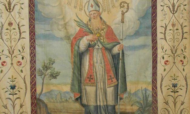 Un antico stendardo ricorda e festeggia Sant'Eusebio nel piccolo comune di Pisano.