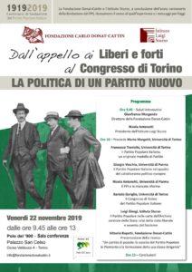 """""""Liberi e Forti"""" al Polo del 900"""