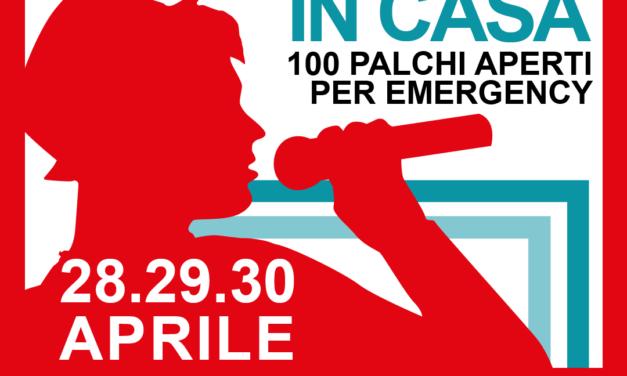 100 palchi domestici per Emergency. Tre giorni di concerti virtuali.