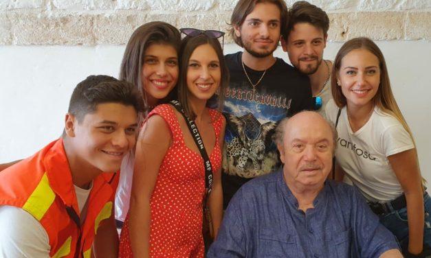 I giovani attori di Torino in Puglia per il film Surprise Trip.