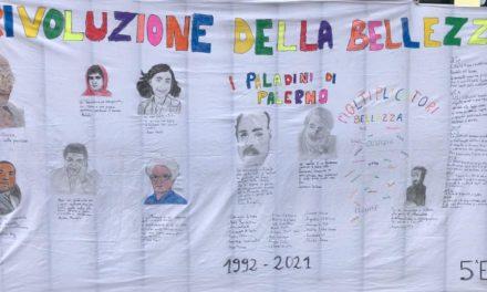 """""""Il nostro telo"""". La 5E dell'Istituto Marconi-Antonelli con un progetto sulla Bellezza."""